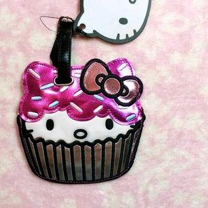 Cupcake Hello Kitty luggage tag